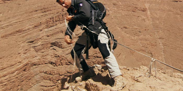Bear Grylls Amp His Lowa Boots In Escape From Hell